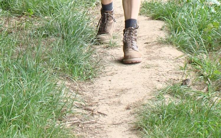 Füße gehend