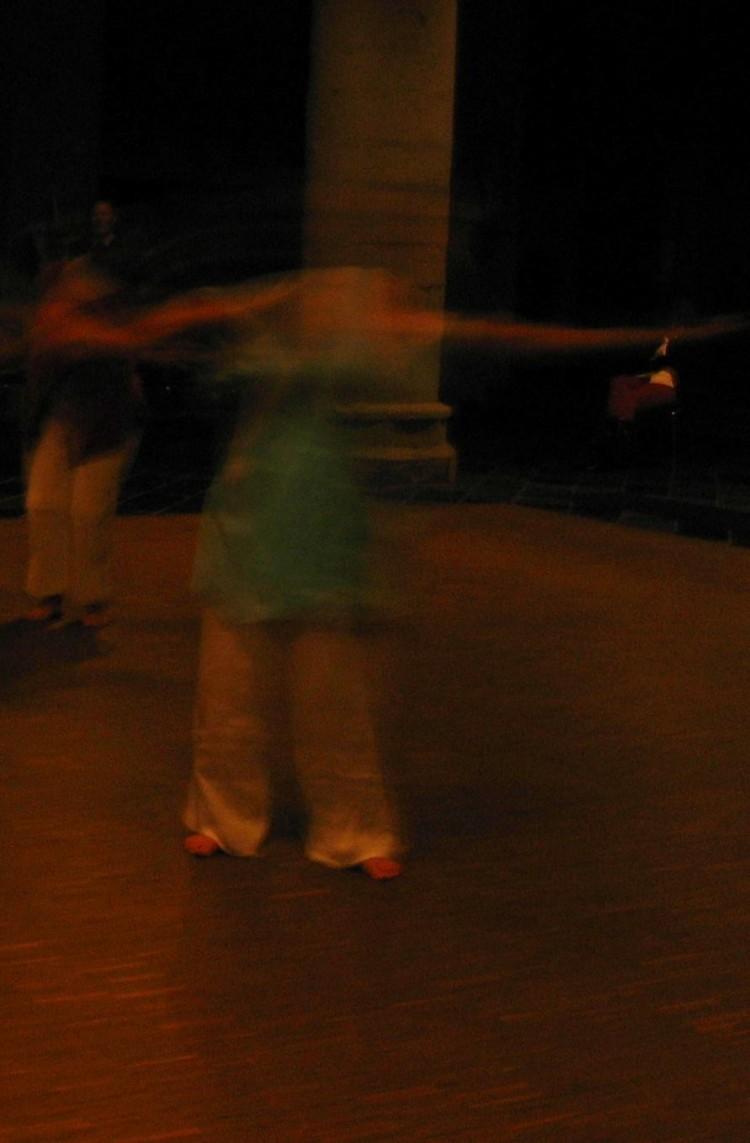 Tänzerin blau