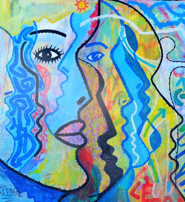 Gesichter Gemälde