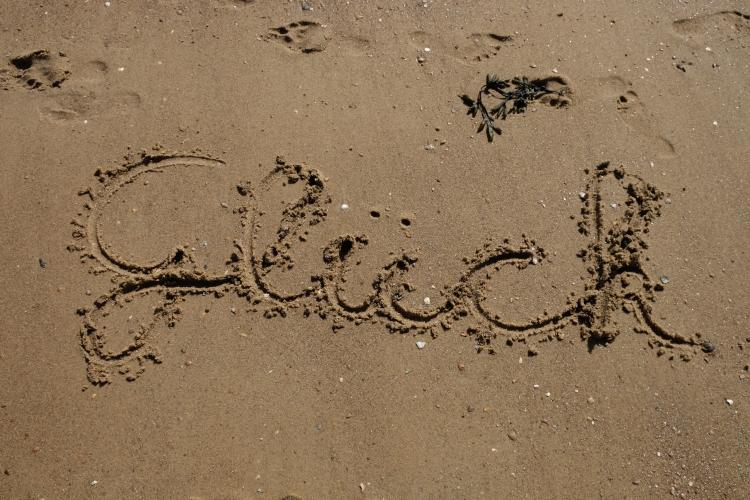 Glück Sand