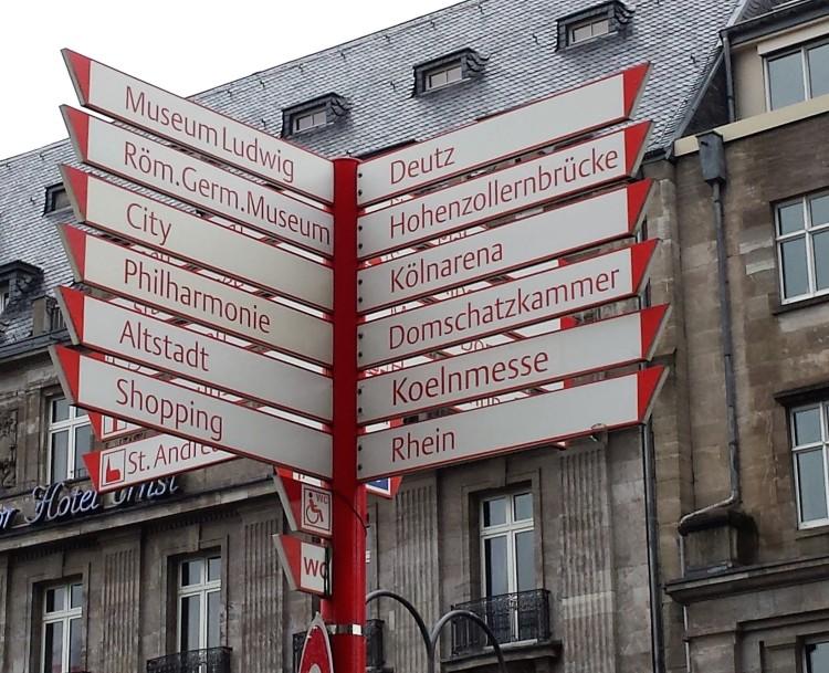 Köln Wegweiser