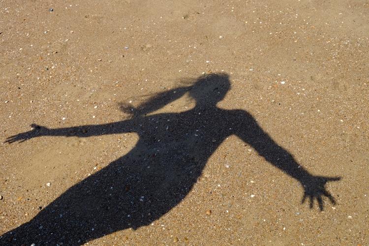 Schattenbild Strand