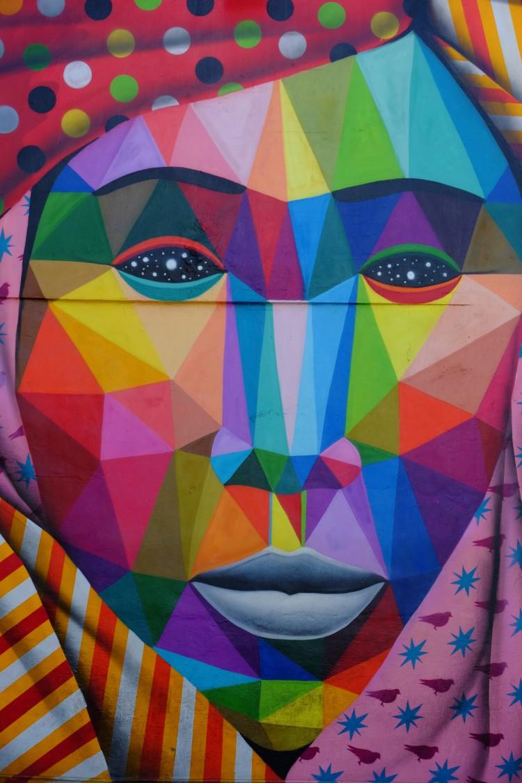 Gesicht Wandmalerei