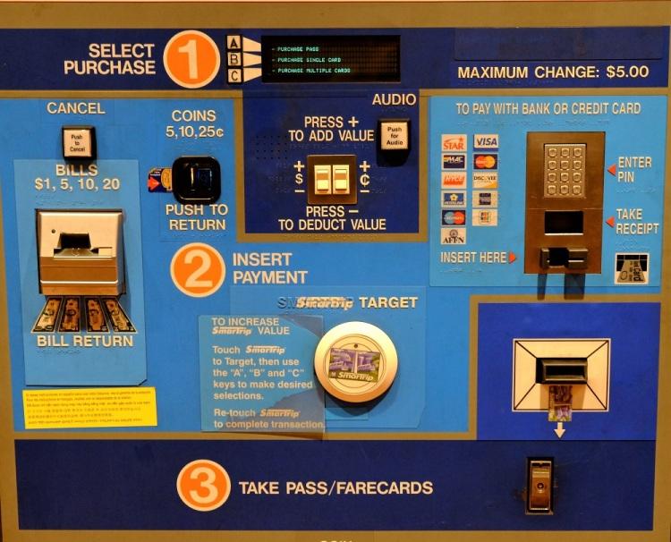 Automat Metrokarte