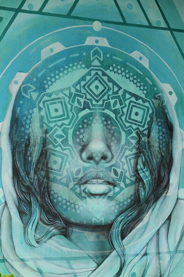 Gesicht Graffiti