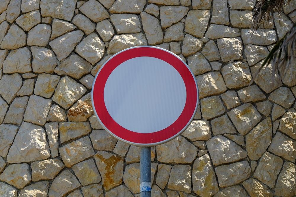 Schild Verbot K