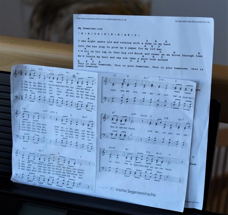 Lied Noten Segenswünsche